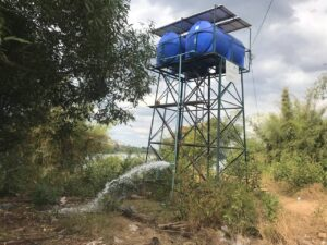 Water supply system in Kratie Province community